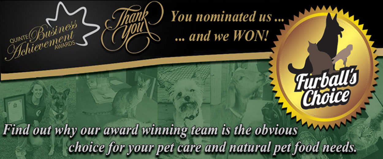 Quinte's Only Multi-Award Winning Pet Care Company!